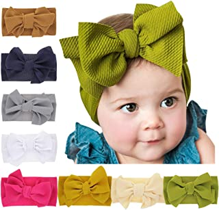 DCUTERQ Baby Girl Headbands with Bows Newborn Infant Flowers Elastic Hairband Child Hair Accessories