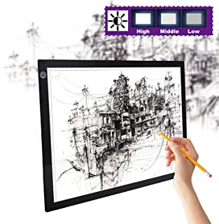 HOKONE LED Light Box Tracer A3/A4 Ultra-Thin Portable,Artcraft Tracing Light Box with USB Power Cable Dimmable Brightness.Light Pad Copy Board for Artists Drawing/Sketching/Animation/Stencilling X
