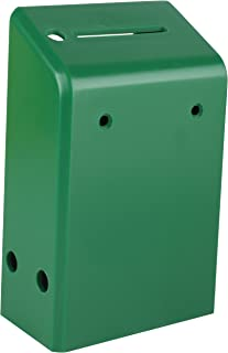 """MCB Hard Plastic Charity Donation Boxes or Coin Collection Box, Wall Mount Ballot Box, 6.1"""" x 3.9"""" x 2.2"""" - Pack of 5 (Green)"""