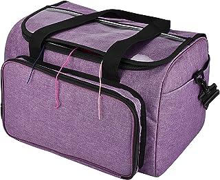 ZSDFW Sac à Tricoter Crochet Multifonction Crochet Organisateur de Fil Sac fourre-Tout Sac à poignée Portable pour Aiguill...