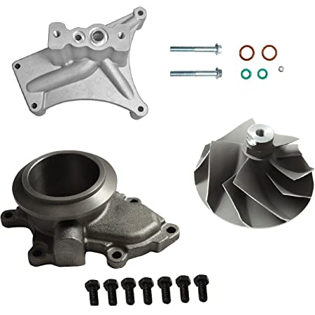 Amazon Com Yjracing Upgraded Turbo Pedestal Ebp Delete Kit W Compressor Wheel Replacement For 7 3l 99 5 03 Powerstroke Diesel Automotive