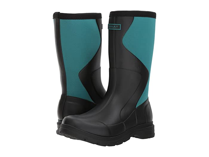 Ariat  Springfield Rubber Boot (Black/Dusty Teal) Womens Waterproof Boots