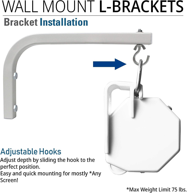 Akia Screens 10 inch Universal Projector Screen L-Bracket Wall Hanging Mount kit 10