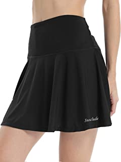 Susclude Women's Athletic Skorts Pleated Active Skirts Shorts Running Tennis Golf Skirt Skorts with Pockets