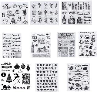 10 Piezas Sellos Transparentes, Silicona Sello,Transparente Álbum de Álbumes de Recortes para Manualidades Scrapbooking,Fo...