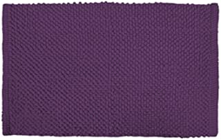DII Oceanique Machine Washable 100% Cotton Chenille Pop Corn Luxury Spa Bath Rug, Soft & Absorbent, Place Near Vanity, Bath Tub or Shower, 21 x 34, Eggplant