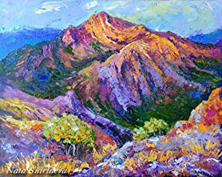 DIY Oregon Mountain Diamond Painting, Square Full Drill Diamond Painting Kit for Adults, Colorful Beautiful Landscape 5D Diamond Painting,for Home Wall Decor, Paint by Number Kits (15.8X19.7 INCH)