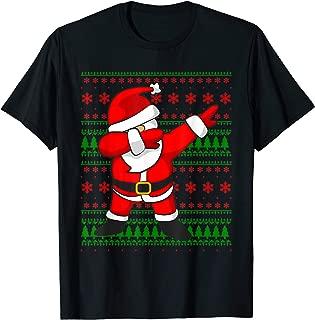 Dabbing Santa Claus Ugly Sweater T-Shirt   Christmas Shirt
