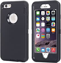 iPhone 6 Case, iPhone 6S Case [Heavy Duty] AICase Built-in Screen Protector Tough 3 in 1 Rugged Shockproof Cover for Apple iPhone 6/6S (Black with Belt Clip)