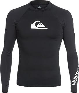 Quiksilver All Time Long Sleeve Rashguard Swim Shirt UPF 50+