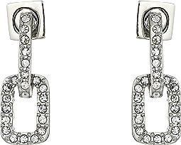 Pave Link Stud Earrings
