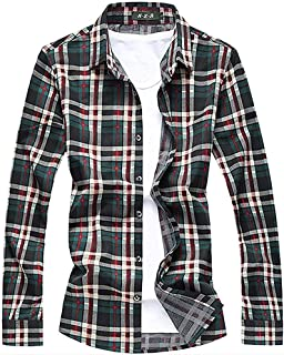 [CEEN] メンズシャツ ギンガムチェック きれいめ 長袖 カジュアル ネルシャツ 大きいサイズ