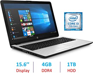 HP Premium 15.6-inch HD WLED-Backlit Display Laptop PC, Intel Dual Core i3-7100U 2.4GHz Processor, 4GB DDR4 SDRAM, 1TB HDD, Bluetooth, HDMI, Webcam, 802.11ac WiFi, Windows 10, Natural Silver