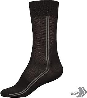 Coolmax Long Cycling Sock (Twin Pack) Black, S/M