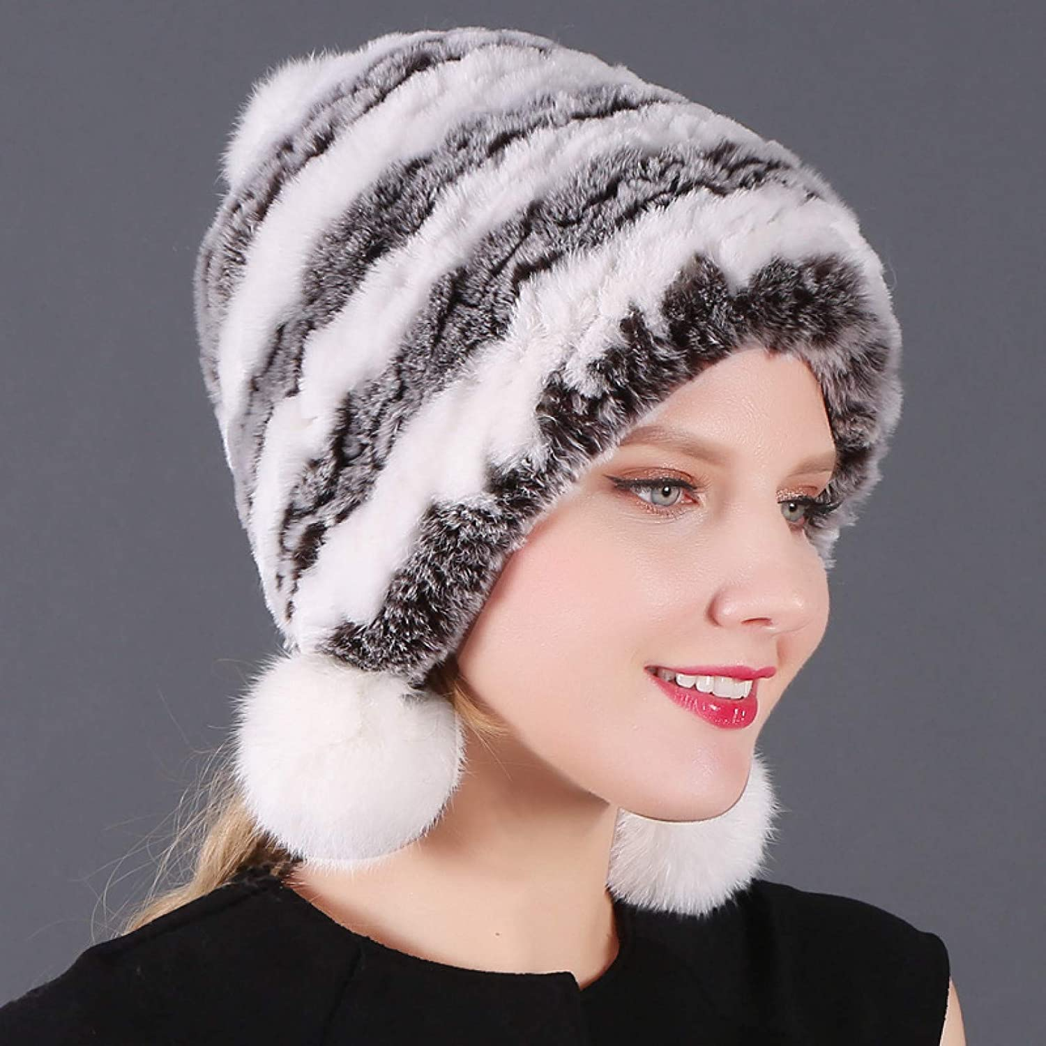 BELEMON Winter Hats 100% quality warranty! for Women Thick Lad Hat Discount mail order Warm Rabbit Real Fur