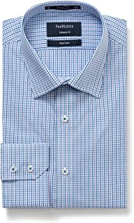 Van Heusen Men's Euro-Tailored Fit Small Check Business Shirt