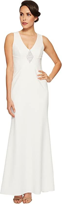 Vince Camuto - Sleeveless V-Neck Gown