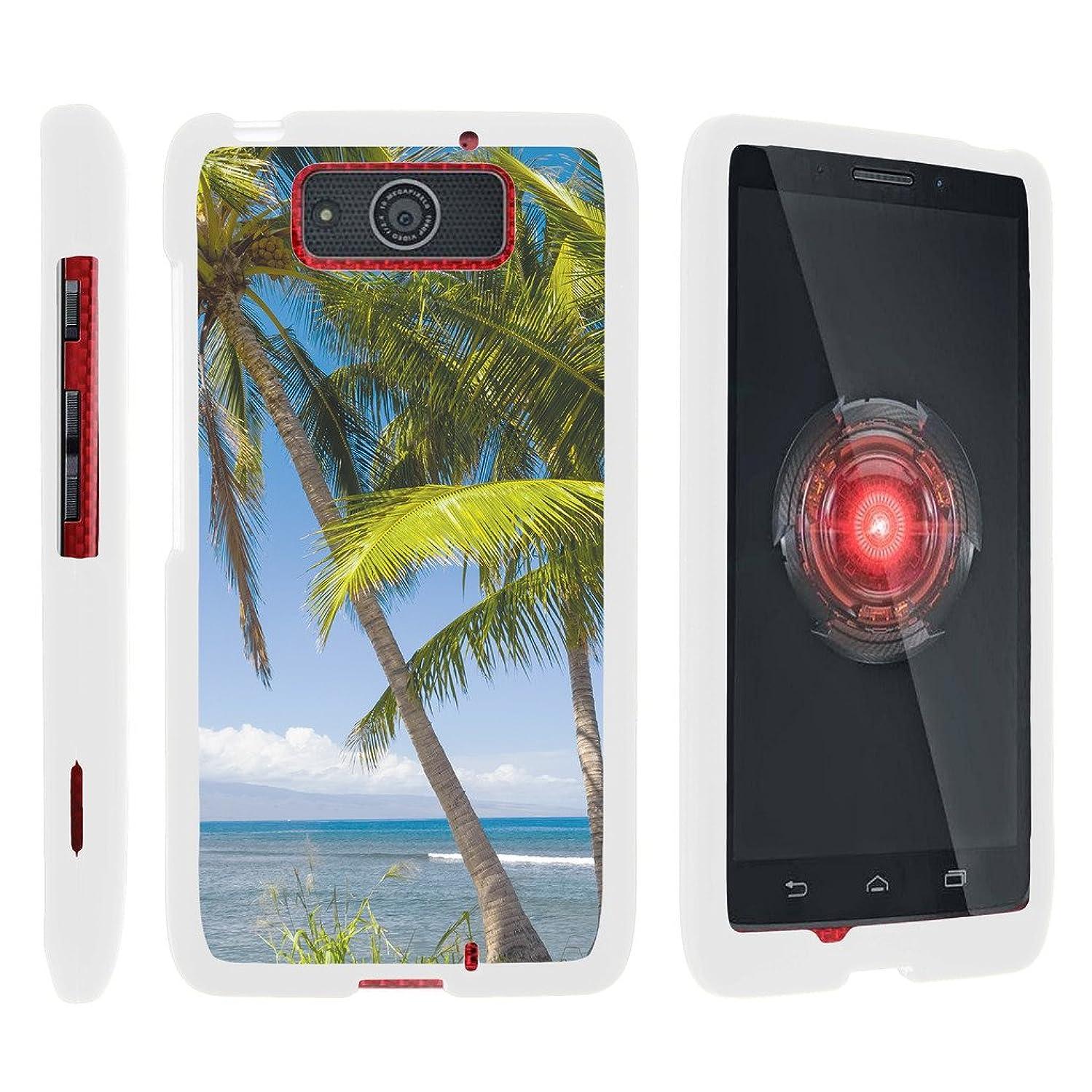 TurtleArmor   Motorola Droid Maxx Case XT1080   Droid Ultra Case XT1080M [Slim Duo] Fitted Ultra Slim Hard Cover Snap On Shell on White Beach Design - Coastal Shore