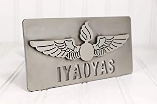 """Custom Hitch Covers 12734-Stainless Steel Navy Aviation Ordnance IYAOYAS Hitch Cover, 2"""""""