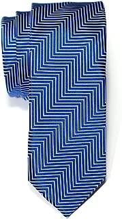 Retreez Herringbone Stripe Woven Skinny Tie Necktie - Various Colors