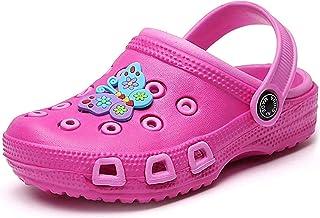 Zuecos Mulas para niños pequeños niñas Sandalias Zapatillas de Playa Zuecos de jardín Zapatos de Piscina Chanclas de Verano