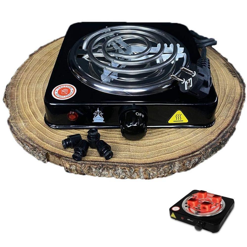 Hornillo Electrico 1000W para Cachimba, Hookah, Shisha Cocina Eléctrica para Hacer Carbón Vegetal: Amazon.es: Deportes y aire libre