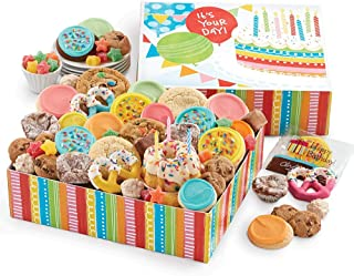 Cheryl's Cookies Birthday in a Box Cookie and Bakery Gift Set with Birthday Cake and candles (41 pieces)