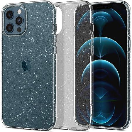 Spigen iPhone 12 Pro Max 用 ケース 6.7インチ TPU ソフトケース キラキラ ラメ入り 米軍MIL規格取得 黄ばみ無し 傷防止 レンズ保護 厚さ1.5mm 薄型 軽量 リキッド・クリスタル ACS01614 (グリッター・クリスタル・クオーツ)