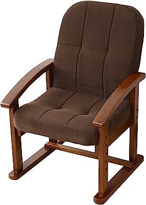 山善(YAMAZEN) 組立て要らず 立ち上がり楽々高座椅子 モカブラウン KMZC-55(MBR)6