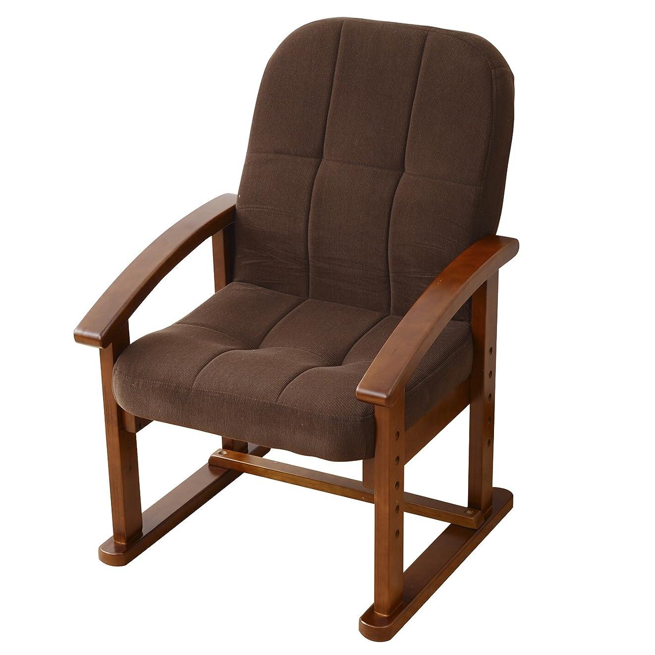 リル廃棄醜い山善(YAMAZEN) 組立て要らず 立ち上がり楽々高座椅子 モカブラウン KMZC-55(MBR)6