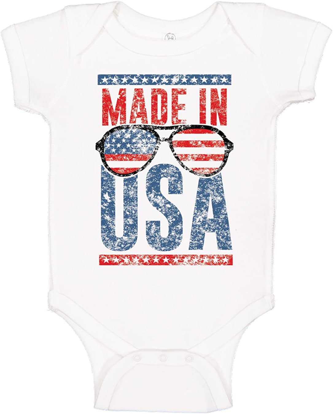 Baby Girl Onesie Independence Day Baby Boy Onesie July 4th Outfit Fourth of July Onesie Red White and Cute Onesie