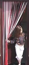 Holland Plastics Original Brand Slat Type Door Curtain Bug Fly Strip Blind 'Red & White'