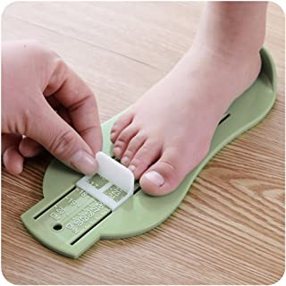 AMZ WHOLESALE Foot Measuring Device, Shoe Sizer, Shop For Kids Shoes Online Simply with a Foot Measuring Chart (Yellow)