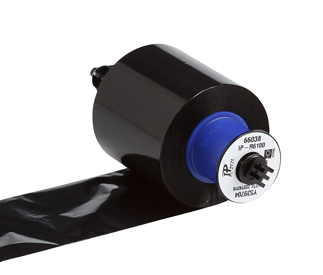 Brady IP-R6100 6100 Series Thermal Transfer Printer Ribbon - Brady Printer Enabled,Black, 2.360