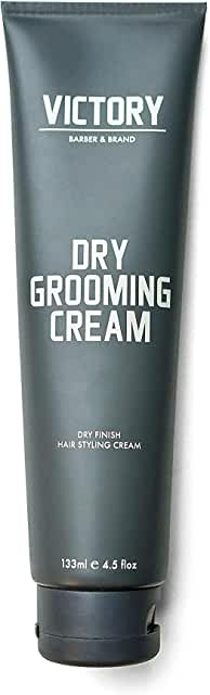Dry Grooming Hair Cream for Men by Victory Barber & Brand | Men's Hair Products Made in the USA | Anti Frizz Styling Cream | Wave Pomade for Styling Medium Length Hair with a Natural Finish