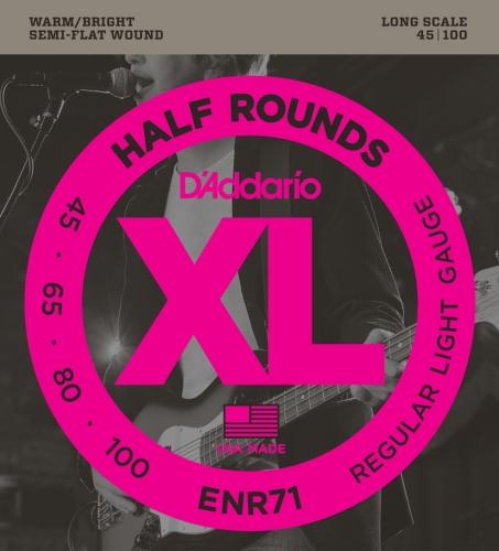 D'Addario ENR71 Half Round Bass Guitar Strings, Regular Light, 45-100, Long Scale