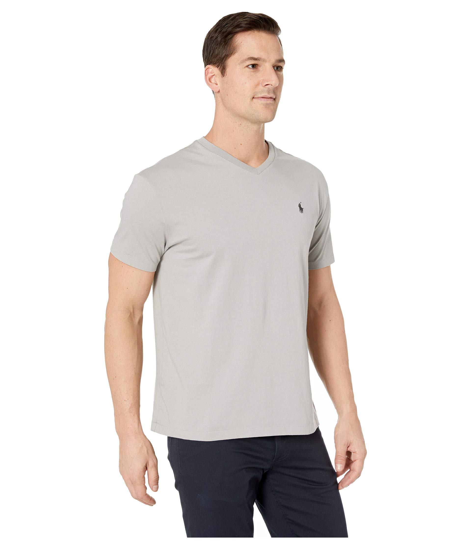 Polo V 26 Sleeve Soft Grey 1 Classic Lauren Fit T neck Jersey Short Ralph shirt xTTwZrC