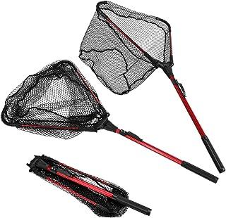 ENKEEO Foldable Fishing Net Triangular Landing Net with...