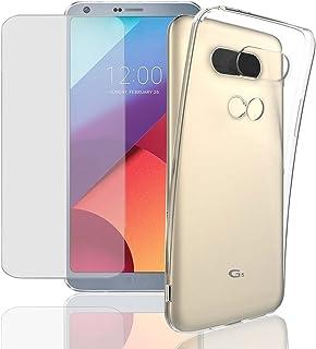Eximmobile silikon fodral + pansarfilm för LG X Cam mobiltelefonfodral med 9H äkta glasfolie skyddsskal med skyddsfolie mo...