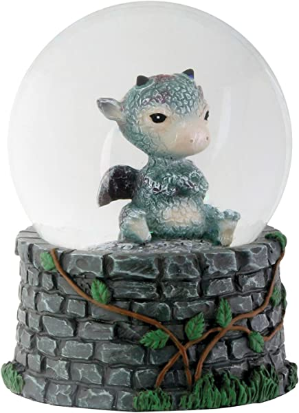 YTC 3 5 Inch Cold Cast Resin Sulky Baby Dragon Water Snow Globe Figurine
