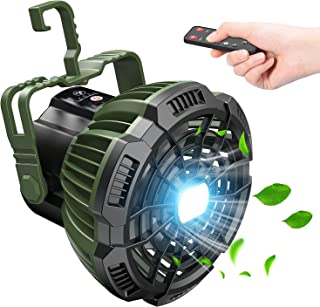 Camping Fan with LED Lantern, 7800mAh Rechargeable...