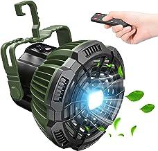 Tesoky Ventilateur Silencieux avec Lumière LED,7800mAh Ventilateur Portable Rechargeable Camping USB,Télécommande,Batterie...