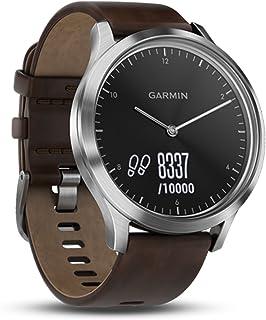 Garmin Vivomove HR Premium, Large, Black Case and Silver Strap