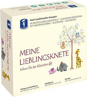 Feuchtmann 628.1513 - MEINE LIEBLINGSKNETE aus besten Rohstoffen, ab 2 Jahren, 4 Dosen Knete in 4 Farben à ca. 150 g, lufttrocknende Modelliermasse, ideal als Geschenk für kreatives Spielen