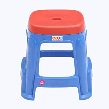 AVRO FURNITURE DC Stool,Standard Size,Blue Base with Red Top