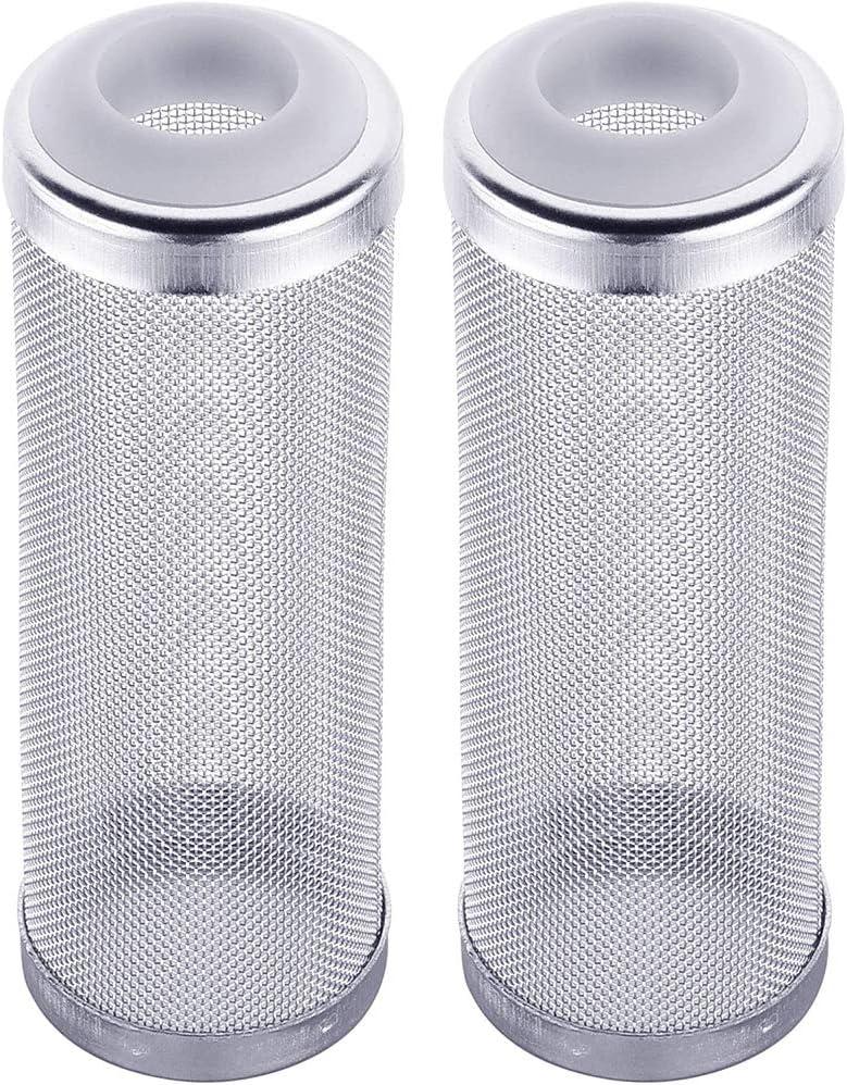 LEZED Filtro de Protección del Acuario Filtro De Malla De Acuario Protector de Camaron de Cesta de Malla de Afluencia de Entrada Cubierta De La Caja De Red Proteja Los Pescado Camarones 16mm 2 Piezas