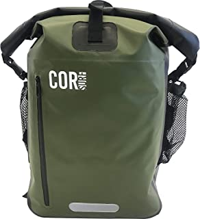COR Surf Waterproof Backpack With Padded Laptop Sleeve, 40 Liters, Green