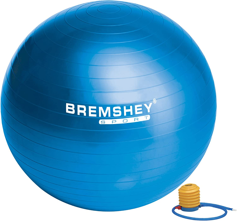 Courier shipping free Superlatite Bremshey 17AMZFU134 Gym Ball cm Blue 55