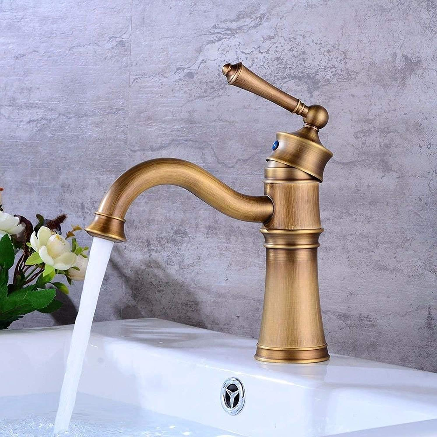 DOJOF Bathroom Sink Faucet Basin Mixer Tap Swivel Hot and Cold Water Ceramic Single Hole Single Lever Basin Sink Tap Bathroom Bar Faucet