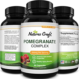 Natural & Pure Pomegranate Supplement for Women & Men - Powerful Antioxidant Pills Immune System Booster - ...
